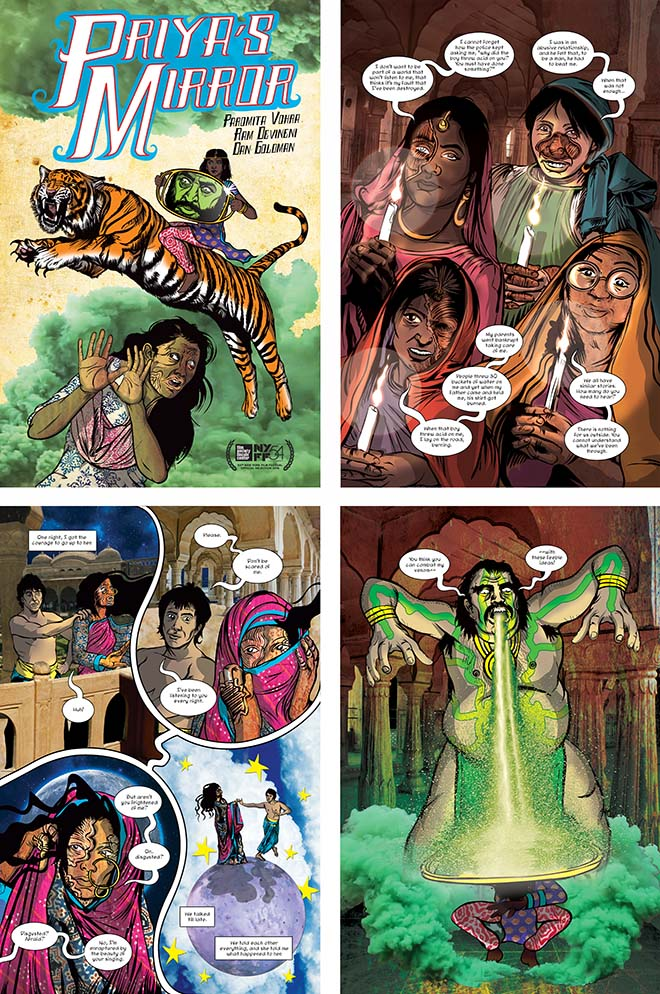Priya's Mirror augmented reality comic book