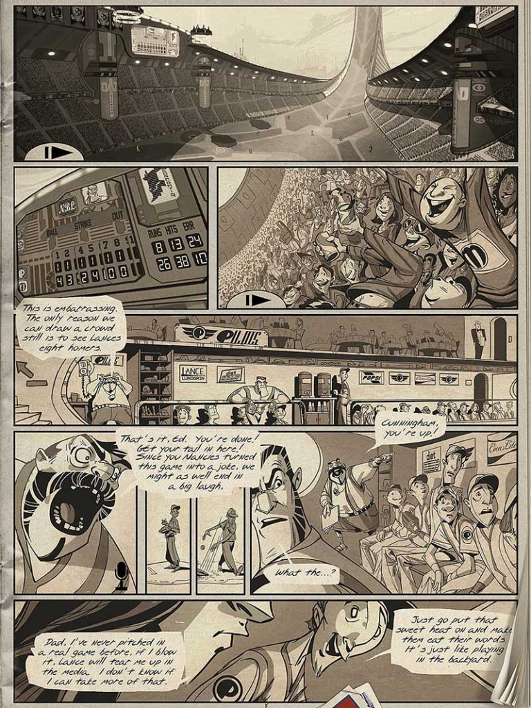Bottom of the Ninth by Ryan Woodward animated graphic novel